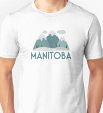 Manitoba Canada T-shirt - Snowy Mountain Unisex T-Shirt