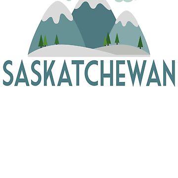 Saskatchewan Canada T-shirt - Snowy Mountain by LocationTees