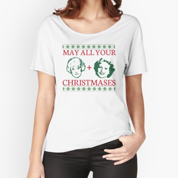 Golden Christmas Relaxed Fit T-Shirt