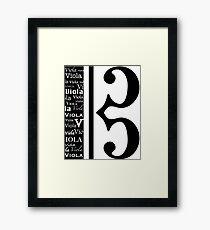 Wordy Clef Framed Print
