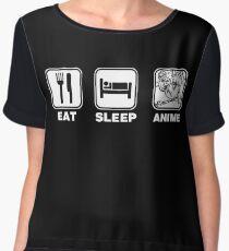 Eat Sleep Anime (Sailor Moon Edition) Chiffon Top