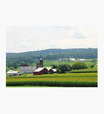 Amish Farm Photographic Print