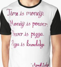 Pizza is knowledge - April Ludgate quote Graphic T-Shirt