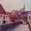 Bridge to Cesky Krumlov by JennyArmitage