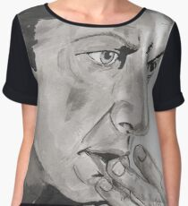 Portrait of Jeff Goldblum Women's Chiffon Top