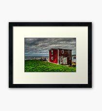 Building on the Sea's Edge Framed Print