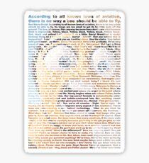 bee movie script Sticker