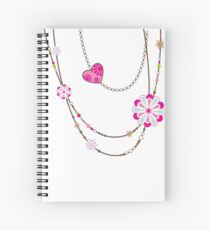 NECKLACE :: funky flowers chain bright colourful Spiral Notebook