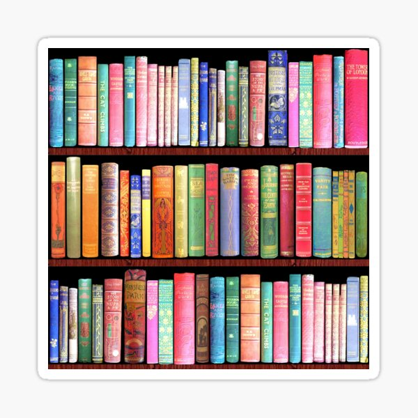 Bookworm Antique books Sticker