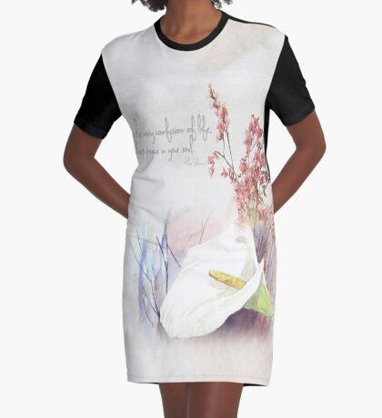 Halte Frieden in deiner Seele T-Shirt Kleid