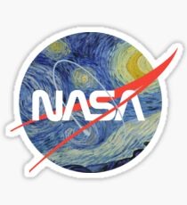 NASA Starry Worm Sticker