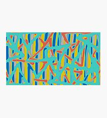green blue red yellow painting abstract background Photographic Print