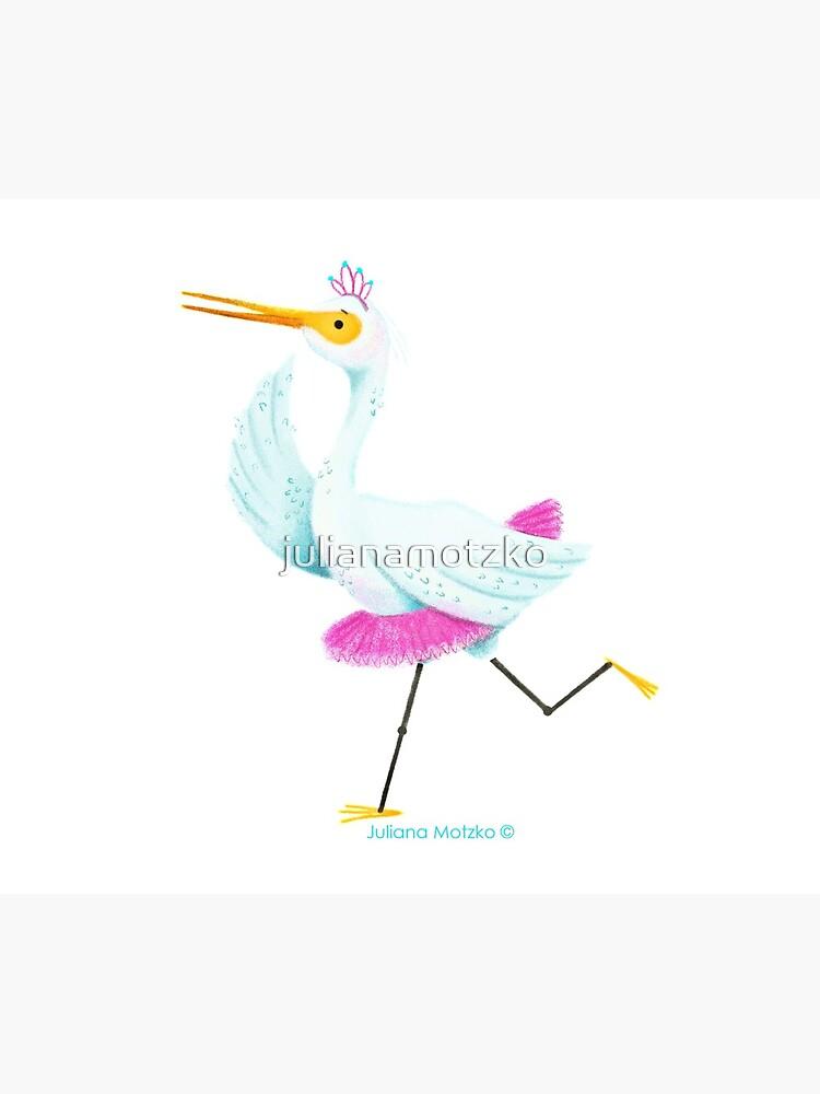 Egret dancing Ballet by julianamotzko