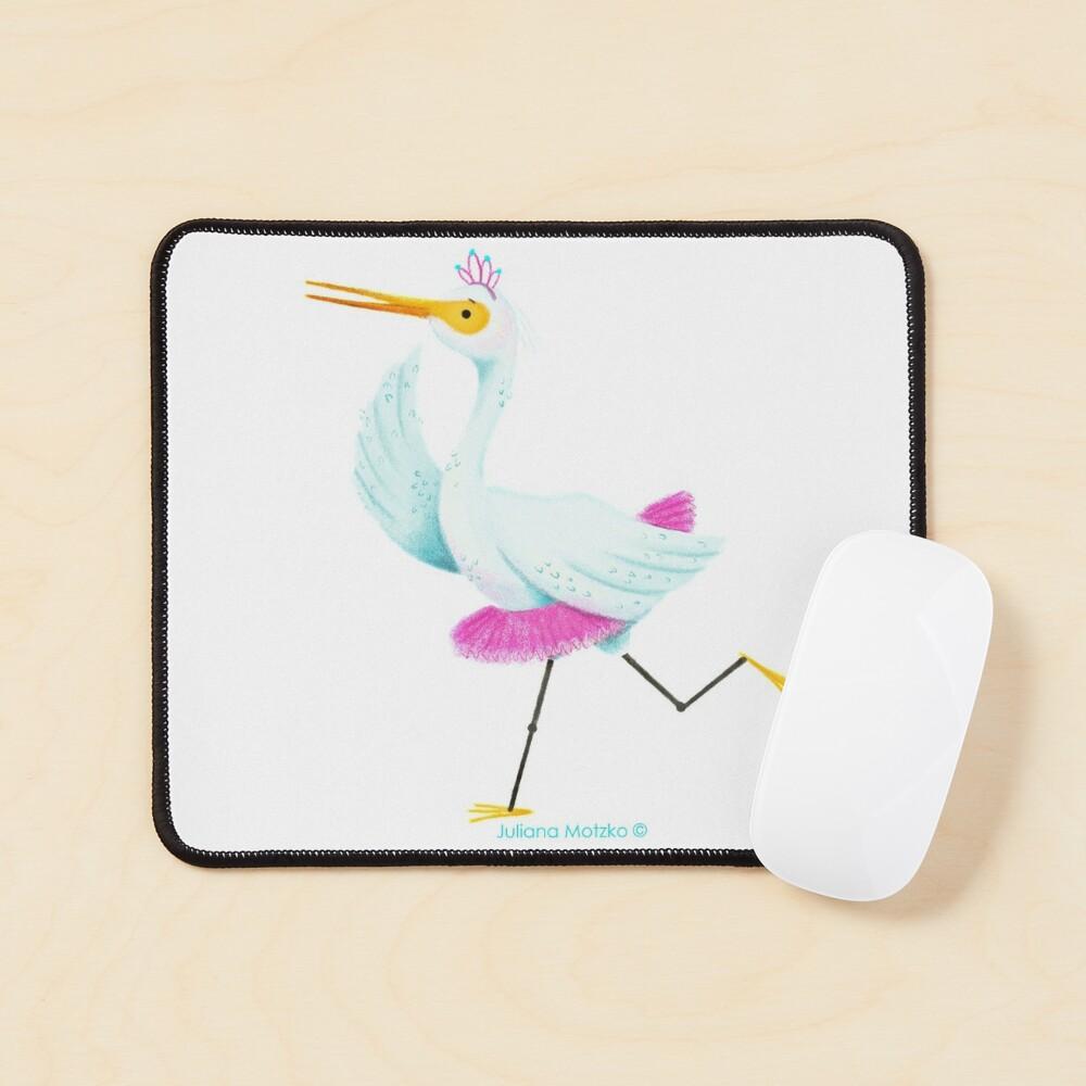 Egret dancing Ballet Mouse Pad