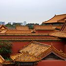 Looking out of Forbidden City by BILL JOSEPH