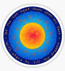Kashmir Sun Sticker