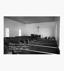 Church With Scripture Photographic Print