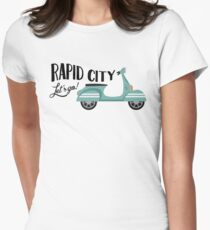 Rapid City T-shirt - Moped Scooter Womens Fitted T-Shirt