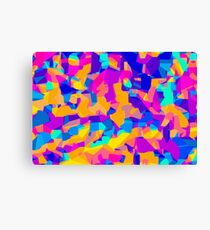 pink purple blue orange and yellow painting abstract background Canvas Print