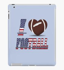 I love football iPad Case/Skin