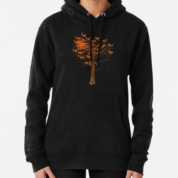 Blazing Fox Tree Pullover Hoodie
