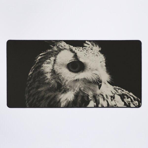 Wild gothic owl Desk Mat