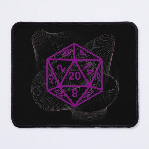 Fine Art Critical Hit d20 Polyhedral Dice Design Mouse Pad