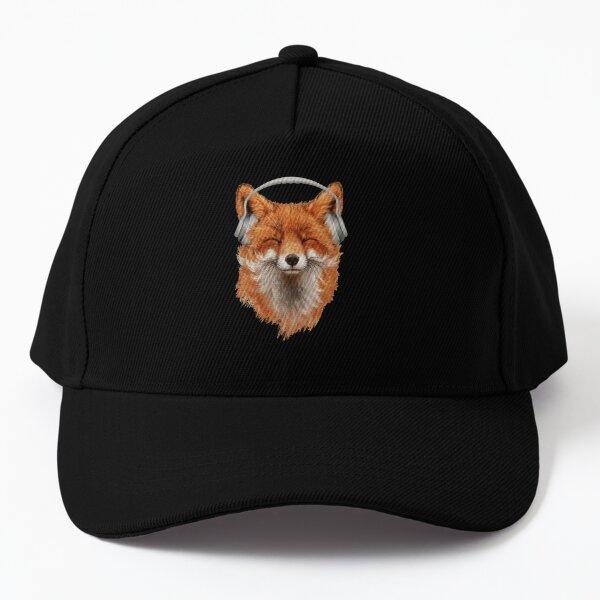 Smiling Musical Fox Baseball Cap