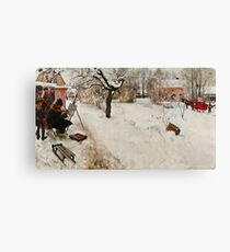 Winter Motif - Plein Air  Canvas Print