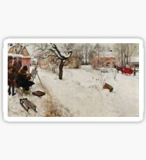 Winter Motif - Plein Air  Sticker
