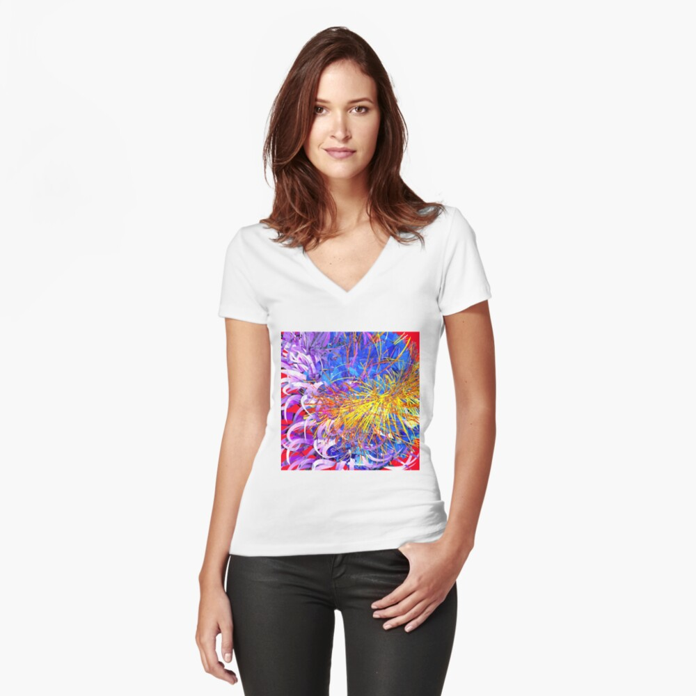 Spring Time (wild bloom) Fitted V-Neck T-Shirt