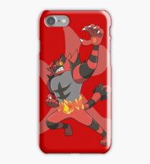 Incineroar With Fire kanji iPhone Case/Skin