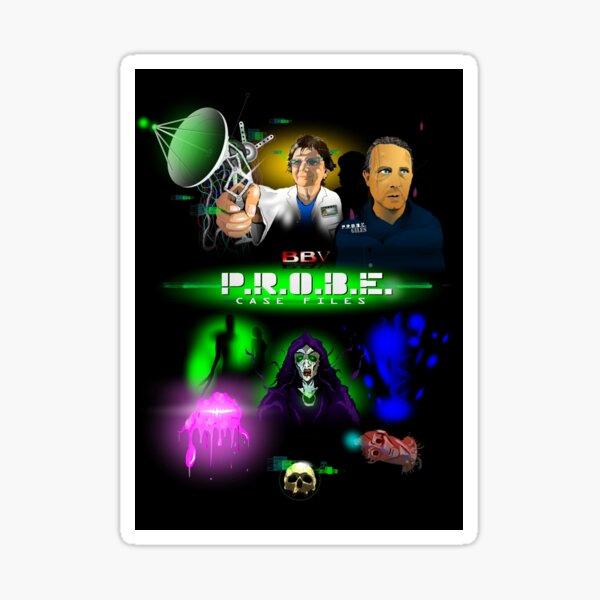 P.R.O.B.E. Case Files - Liz Shaw & Giles   BBV Productions Sticker