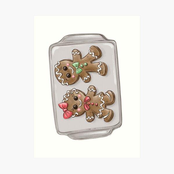 Gingerbread Couple Cookies Art Print