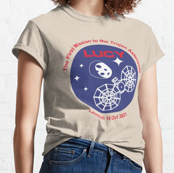NASA Lucy mission logo launch date 16 Oct 2021 (pink) Classic T-Shirt