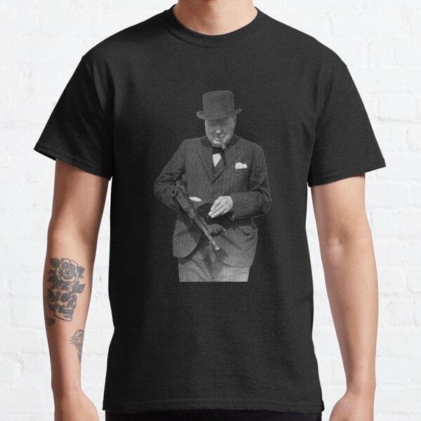 Winston Churchill Inspecting a Tommy Gun - WW2 - 1940 Classic T-Shirt