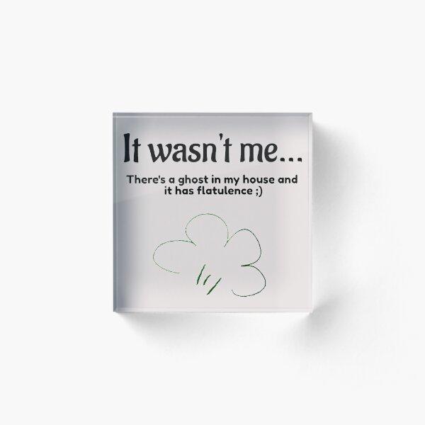 It Wasn't Me ;) Acrylic Block