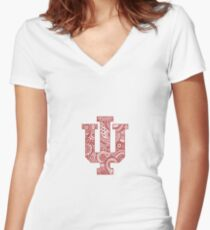 Indiana University Women's Fitted V-Neck T-Shirt