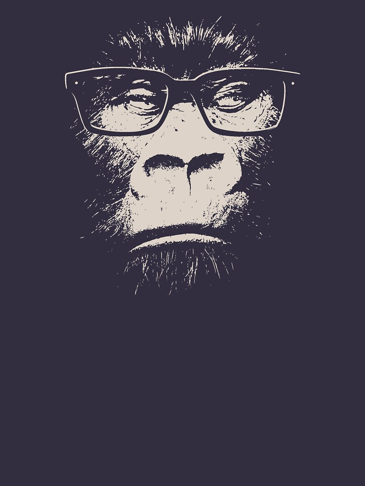 80f468966a80b3 Hipster Gorilla With Glasses | Unisex T-Shirt, a t-shirt of funny ...