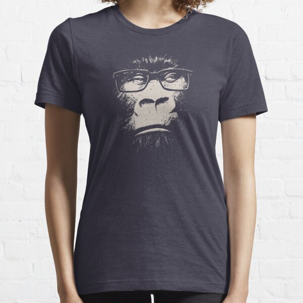 Hipster Gorilla With Glasses Essential T-Shirt