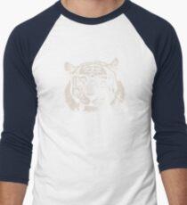 Hipster Tiger With Glasses Men's Baseball ¾ T-Shirt