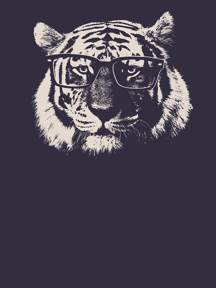 Hipster Tiger With Glasses | Unisex T-Shirt