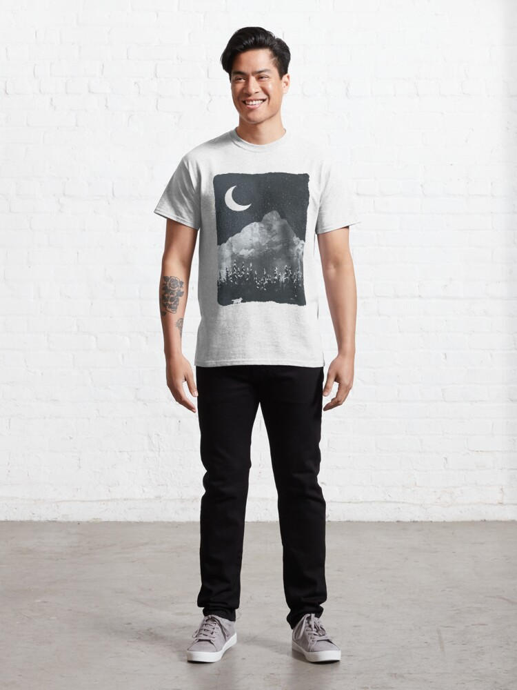 Alternate view of Winter Finds the Wolf... Classic T-Shirt