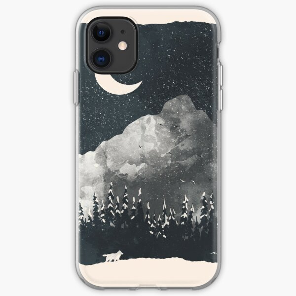 Winter Finds the Wolf... iPhone Soft Case