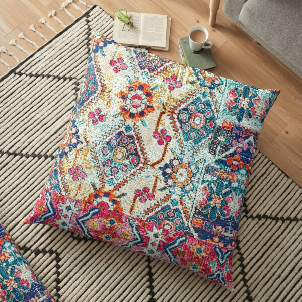 Vintage Heritage Oriental Traditional Moroccan Collage Style Floor Pillow
