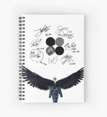 wings - kim taehyung (v2) Spiral Notebook