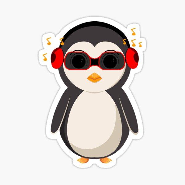 Penguina - listening to music Sticker