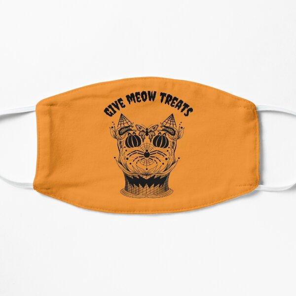 Halloween Pumpkin Cat (Orange) Flat Mask