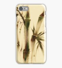 """Awareness"" Sumi-e bamboo painting on paper iPhone Case/Skin"