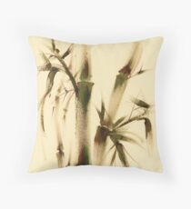 """Awareness"" Sumi-e bamboo painting on paper Throw Pillow"